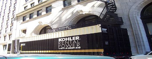 Kohler rental power